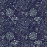 Textura inconsútil con las flores Fotografía de archivo libre de regalías