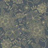 Textura inconsútil con las flores Foto de archivo libre de regalías