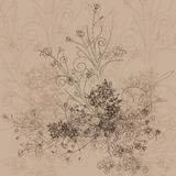 Textura inconsútil con las flores Fotos de archivo libres de regalías