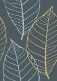 Textura inconsútil con las hojas Foto de archivo libre de regalías