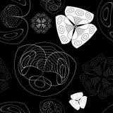 Textura inconsútil con las imágenes maravillosas de flores libre illustration