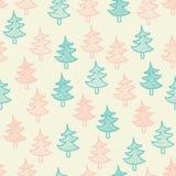Textura inconsútil con los árboles de navidad Foto de archivo libre de regalías