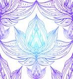 Textura inconsútil con los contornos del loto stock de ilustración