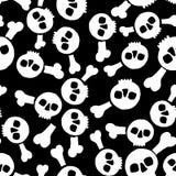 Textura inconsútil con los cráneos Imagen de archivo libre de regalías