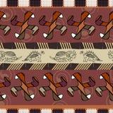 Textura inconsútil con los dinosaurios Foto de archivo libre de regalías