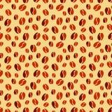 Textura inconsútil con los granos de café Fotos de archivo libres de regalías