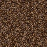 Textura inconsútil con los granos del café asado Imágenes de archivo libres de regalías