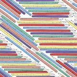 Textura inconsútil con los lápices cómicos dibujados mano Modelo dibujado mano colorida Foto de archivo libre de regalías
