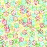 Textura inconsútil de bayas coloridas abstractas Imagenes de archivo