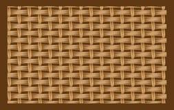 Textura inconsútil de Brown de cadenas entrelazadas. stock de ilustración