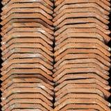 Textura inconsútil de la foto de la pila de teja de tejado holandesa imagenes de archivo