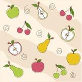 Textura inconsútil de la fruta, papel pintado Fotografía de archivo libre de regalías