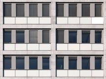 Textura inconsútil de la pared del edificio de oficinas Fotos de archivo