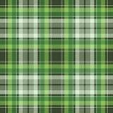 Textura inconsútil de la tela del control de la tela escocesa irlandesa verde de la tela libre illustration