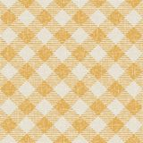 Textura inconsútil de la tela escocesa amarilla Fotos de archivo