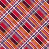 Textura inconsútil de la tela rombal del tartán en colores calientes Imágenes de archivo libres de regalías