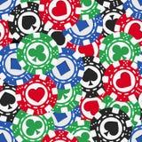 Textura inconsútil de las fichas de póker Imagen de archivo