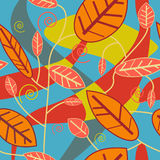 Textura inconsútil de las hojas ilustración del vector