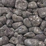 Textura inconsútil de las piedras de diversos tamaños foto de archivo libre de regalías