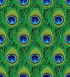Textura inconsútil de las plumas del pavo real Fotografía de archivo