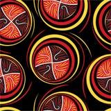 Textura inconsútil de los círculos ornamentales Imagen de archivo