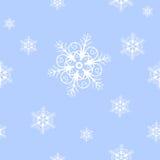Textura inconsútil de los copos de nieve Foto de archivo libre de regalías