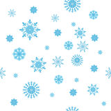 Textura inconsútil de los copos de nieve del invierno Fotos de archivo libres de regalías