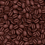 Textura inconsútil de los granos de café Fotografía de archivo