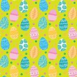 Textura inconsútil de los huevos de Pascua Fotografía de archivo