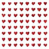 Textura inconsútil de los pequeños del brillo corazones del amor Fotografía de archivo libre de regalías