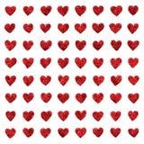 Textura inconsútil de los pequeños del brillo corazones del amor Fotografía de archivo