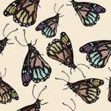 Textura inconsútil de mariposas Imagenes de archivo
