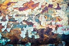 Textura inconsútil de oxidado coloreado áspero, fondo del vintage Imagen de archivo libre de regalías