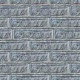 Textura inconsútil de la pared de ladrillos decorativa gris. Fotos de archivo