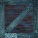 Textura inconsútil del azul de la caja de madera foto de archivo