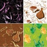 Textura inconsútil del café y del té Imágenes de archivo libres de regalías