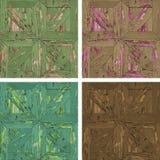 Textura inconsútil del collage concreto gris del wallA de cuatro texturas inconsútiles del entarimado de madera imagen de archivo libre de regalías