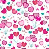 Textura inconsútil del corazón Fondo del día de tarjeta del día de San Valentín Fotos de archivo libres de regalías