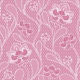 Textura inconsútil del cordón floral Modelo retro del victorian stock de ilustración