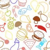 Textura inconsútil del esquema lindo de la fruta Imagen de archivo libre de regalías