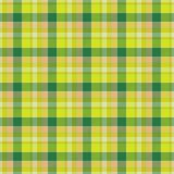 Textura inconsútil del mantel amarillo y verde stock de ilustración