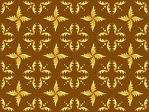Textura inconsútil del marrón y del oro Foto de archivo