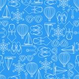 Textura inconsútil del modelo del vector de los símbolos del verano stock de ilustración