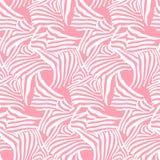 Textura inconsútil del modelo del vector rosado con las rayas de la cebra Imagenes de archivo