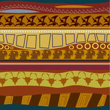 Textura inconsútil del modelo tribal Imagen de archivo