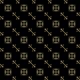 Textura inconsútil del negro-oro Foto de archivo libre de regalías
