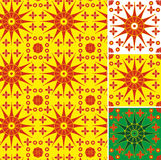 Textura inconsútil del sol simbólico Foto de archivo libre de regalías