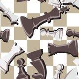 Textura inconsútil del tablero de ajedrez Foto de archivo libre de regalías