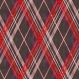 Textura inconsútil del tartán rombal principalmente en colores silenciados stock de ilustración
