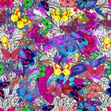 Textura inconsútil del vector Imagenes de archivo